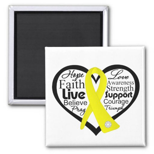 Suicide Prevention Heart Ribbon Collage Magnet