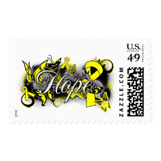 Suicide Prevention Hope Garden Ribbon Stamp