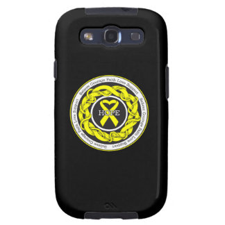 Suicide Prevention Hope Intertwined Ribbon Galaxy SIII Cases