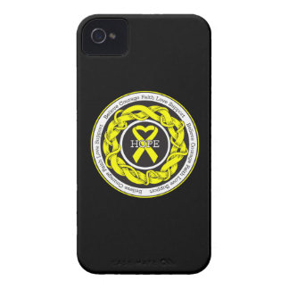 Suicide Prevention Hope Intertwined Ribbon iPhone 4 Cases