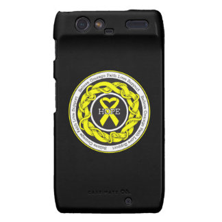 Suicide Prevention Hope Intertwined Ribbon Motorola Droid RAZR Covers