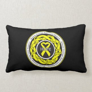 Suicide Prevention Hope Intertwined Ribbon Throw Pillows