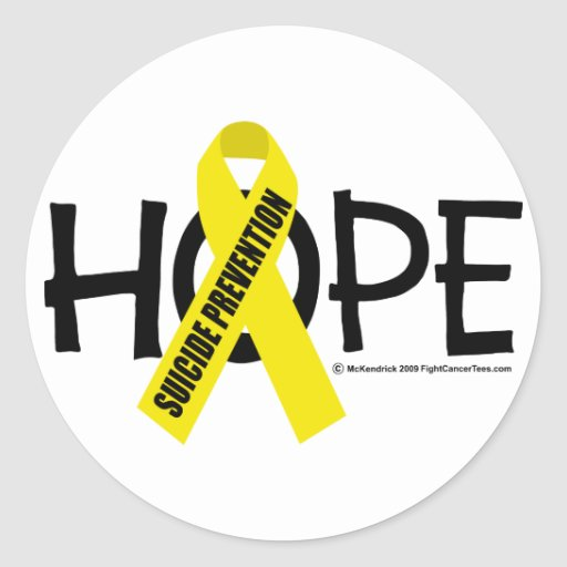 Suicide Prevention Hope Round Stickers