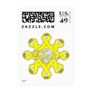 Suicide Prevention Hope Unity Ribbons Postage Stamps