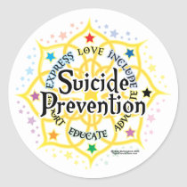 Suicide Prevention Lotus Classic Round Sticker