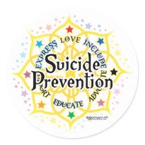 Suicide Prevention Lotus Classic Round Sticker