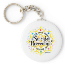 Suicide Prevention Lotus Keychain