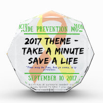 Suicide Prevention Month 2017 Acrylic Award