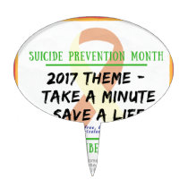 Suicide Prevention Month 2017 Cake Topper