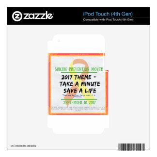 Suicide Prevention Month 2017 Decals For iPod Touch 4G