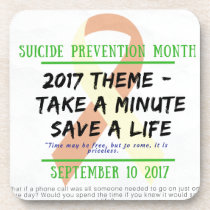 Suicide Prevention Month 2017 Drink Coaster