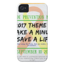 Suicide Prevention Month 2017 iPhone 4 Case