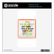 Suicide Prevention Month 2017 iPhone 4 Skin