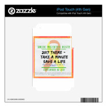 Suicide Prevention Month 2017 iPod Touch 4G Decal