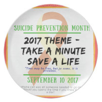 Suicide Prevention Month 2017 Melamine Plate