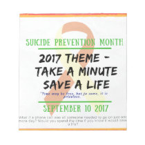 Suicide Prevention Month 2017 Notepad