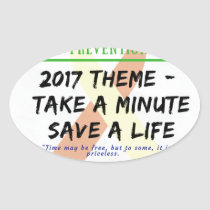 Suicide Prevention Month 2017 Oval Sticker