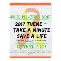 Suicide Prevention Month 2017 Postcard