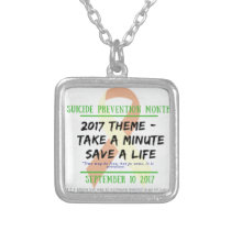 Suicide Prevention Month 2017 Silver Plated Necklace