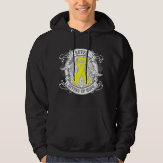 Suicide Prevention Never Giving Up Hope Hooded Pullover