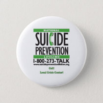 Suicide Prevention POSTER Pinback Button