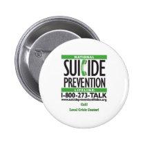 Suicide Prevention POSTER Pinback Button