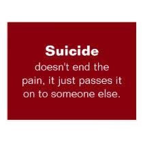 Suicide Prevention Quote Postcard