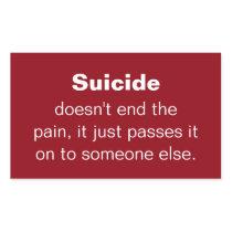 Suicide Prevention Quote Rectangular Sticker