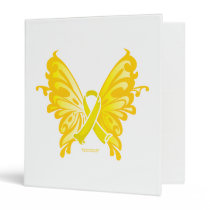 Suicide Prevention Ribbon Butterfly 3 Ring Binder