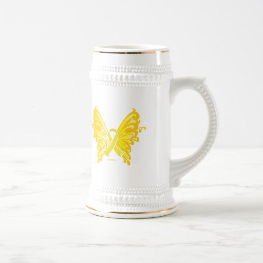 Suicide Prevention Ribbon Butterfly Beer Stein
