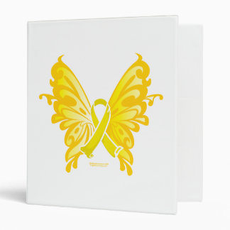 Suicide Prevention Ribbon Butterfly 3 Ring Binders