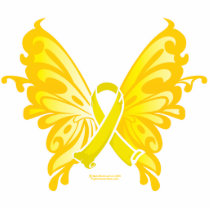Suicide Prevention Ribbon Butterfly Cutout