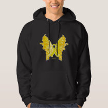 Suicide Prevention Ribbon Butterfly Hoodie