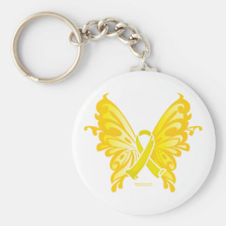 Suicide Prevention Ribbon Butterfly Keychain