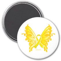 Suicide Prevention Ribbon Butterfly Magnet