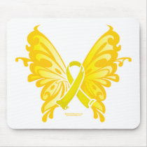 Suicide Prevention Ribbon Butterfly Mouse Pad