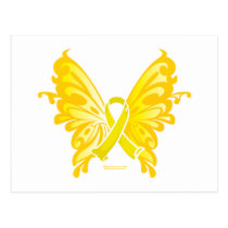 Suicide Prevention Ribbon Butterfly Postcard