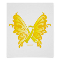 Suicide Prevention Ribbon Butterfly Poster