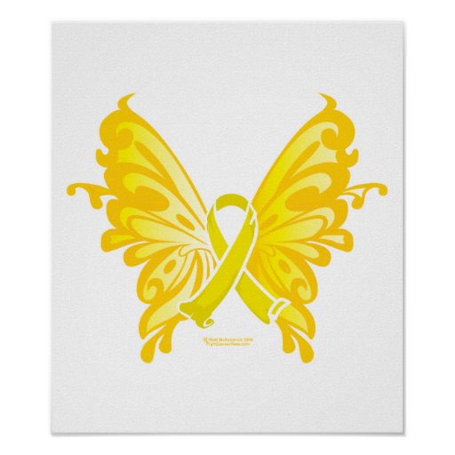 Suicide Prevention Ribbon Butterfly Print