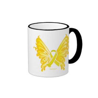 Suicide Prevention Ribbon Butterfly Ringer Mug