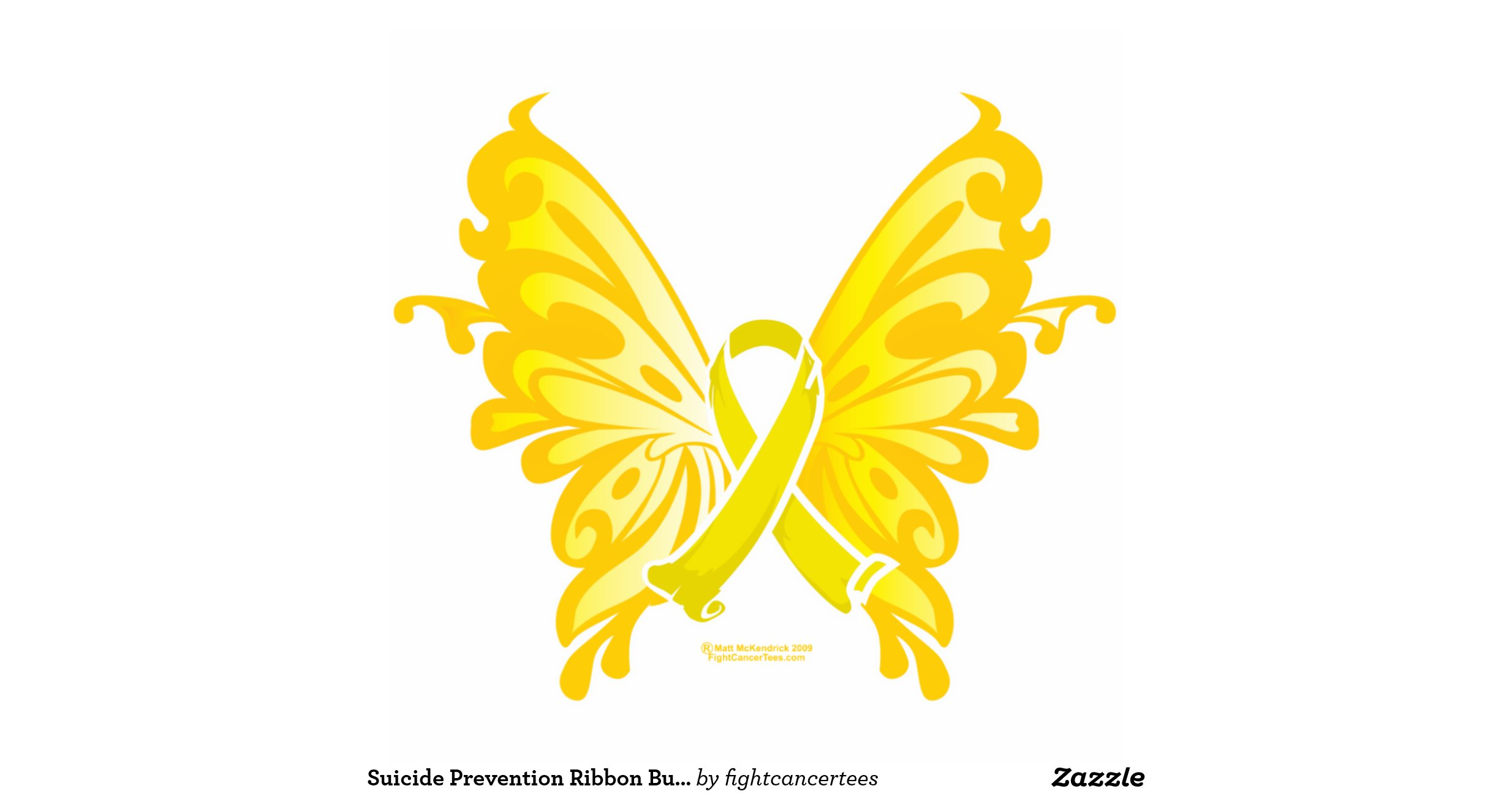 Suicide Prevention Ribbon Butterfly Standing Photo