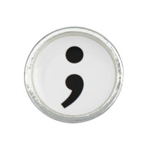 Suicide Prevention Semicolon Ring