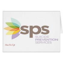 Suicide Prevention Services Logo Apparel. Card