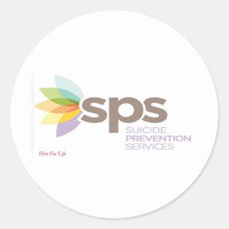 Suicide Prevention Services Logo Apparel. Classic Round Sticker