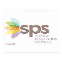 Suicide Prevention Services Logo Apparel. Postcard