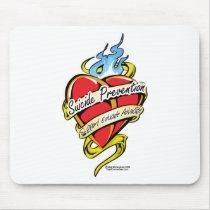 Suicide Prevention Tattoo Heart Mouse Pad