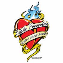 Suicide Prevention Tattoo Heart Statuette
