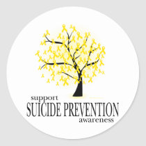 Suicide Prevention Tree Classic Round Sticker