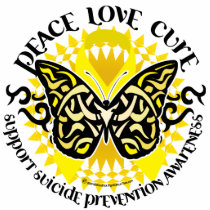 Suicide Prevention Tribal Butterfly Cutout