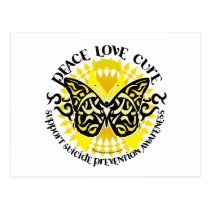 Suicide Prevention Tribal Butterfly Postcard